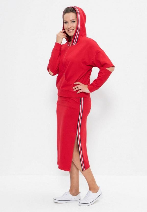 женский костюм cleo, красный