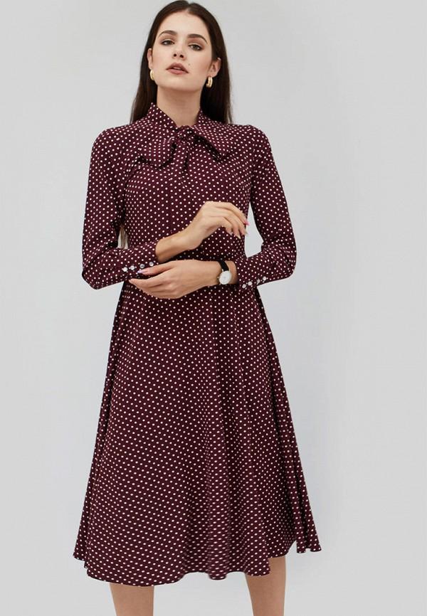 женское платье cardo, бордовое
