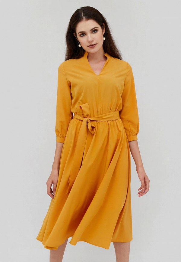 женское повседневные платье cardo, желтое