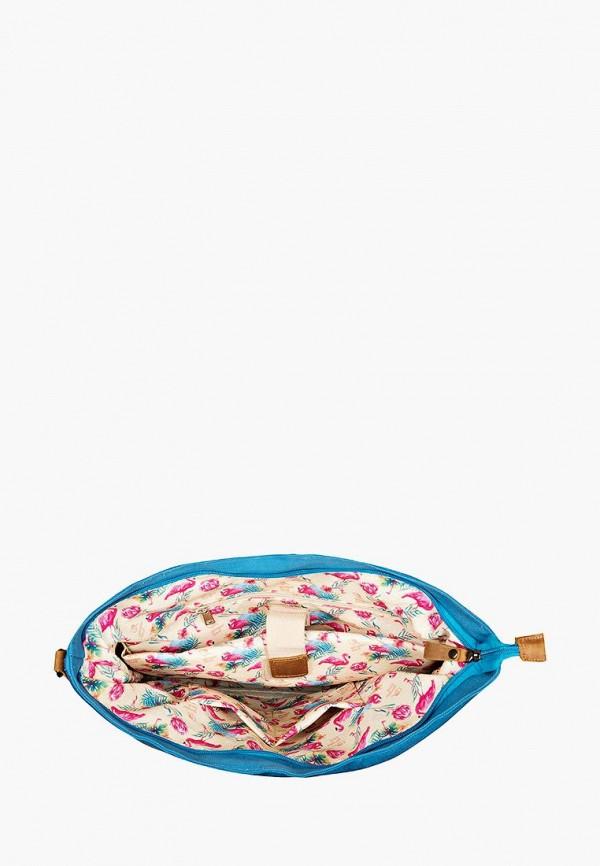 Фото 4 - Женскую сумку Ginger Bird голубого цвета