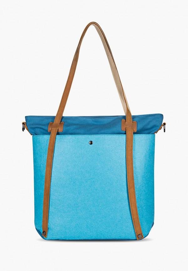 Фото 3 - Женскую сумку Ginger Bird голубого цвета