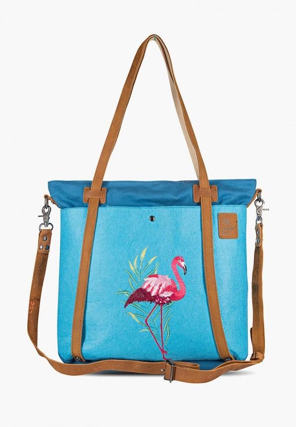 Фото - Женскую сумку Ginger Bird голубого цвета