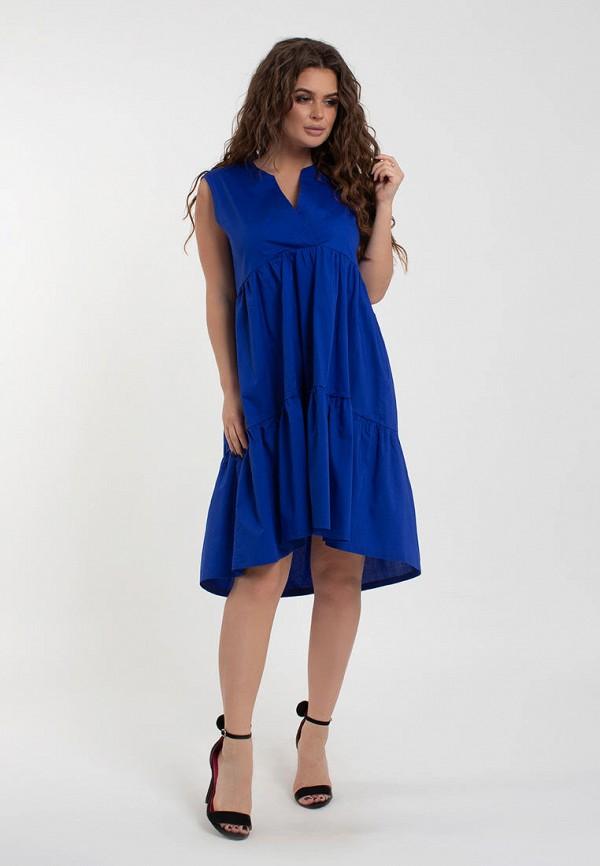 женское повседневные платье modna anka, синее