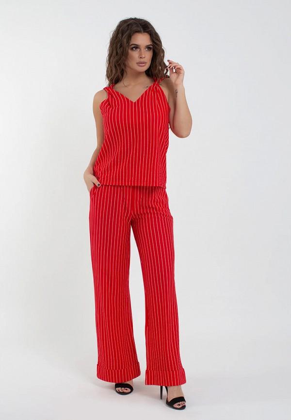 женский костюм modna anka, красный