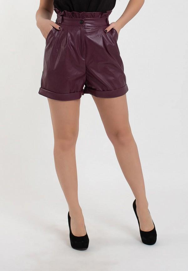 женские повседневные шорты modna anka, бордовые