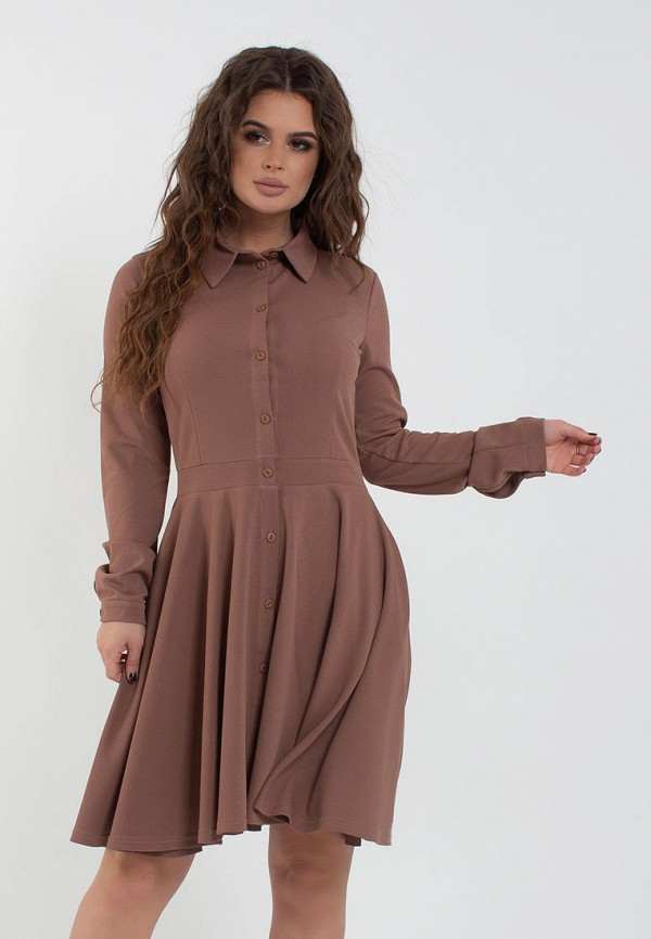 женское платье modna anka, коричневое