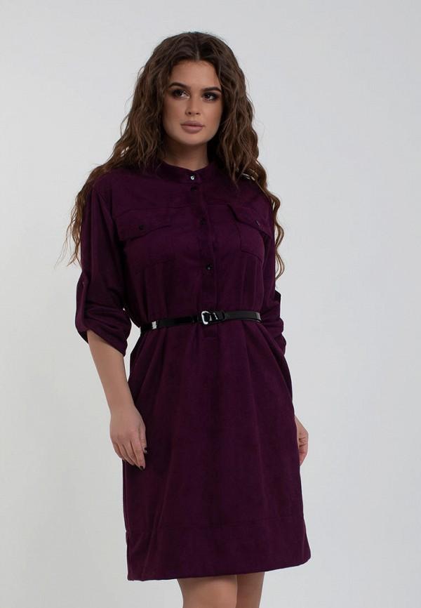 женское повседневные платье modna anka, бордовое