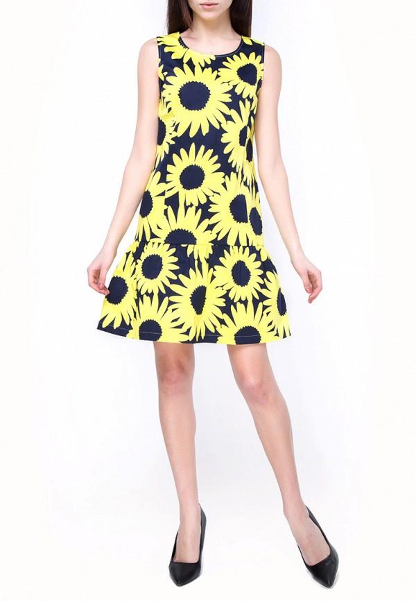 женское повседневные платье vergans, желтое