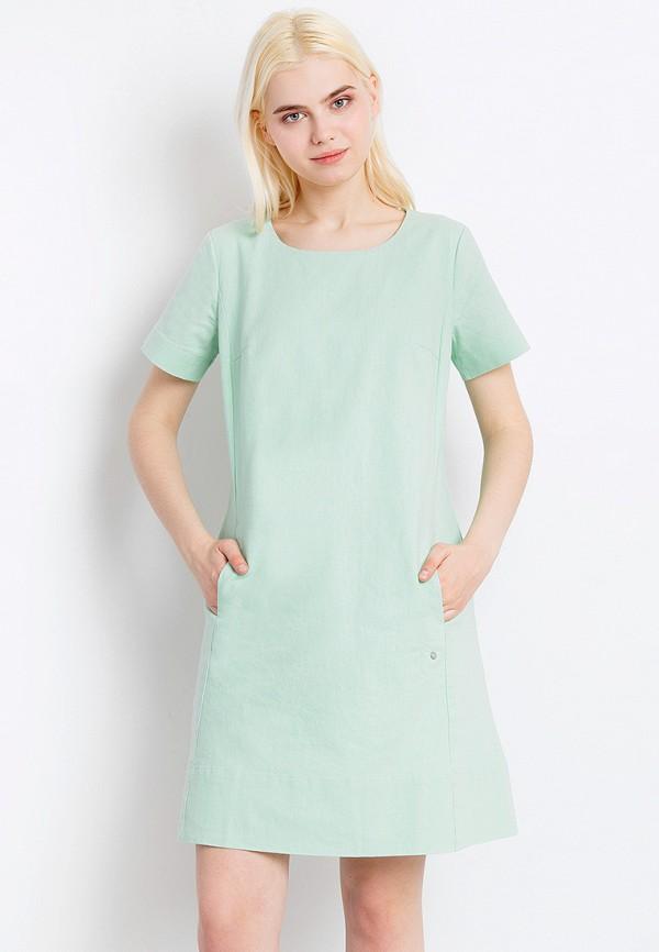 женское платье мини finn flare, зеленое