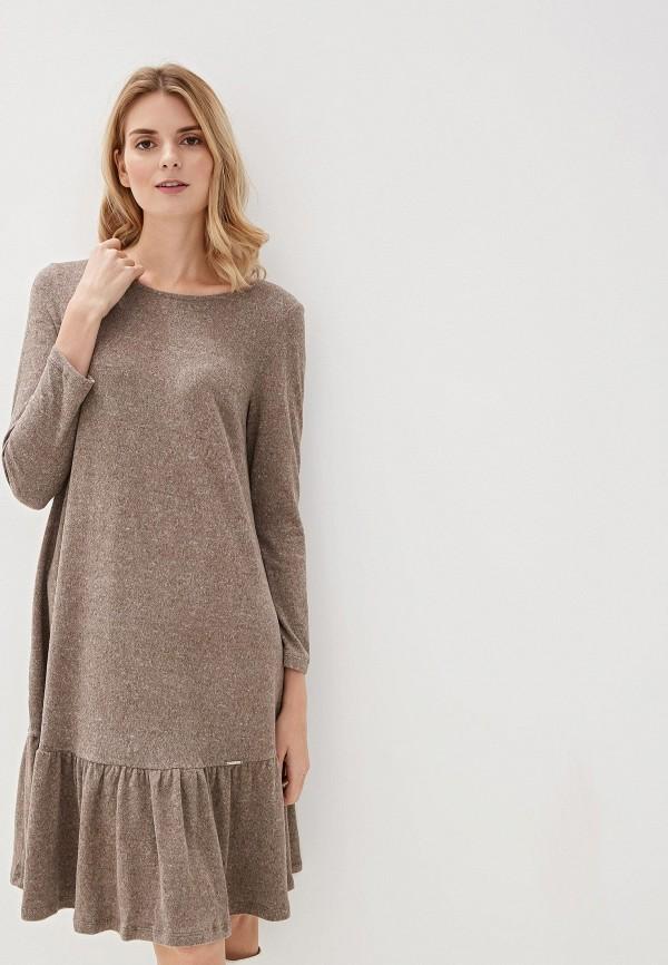 Фото - Женское вязаное платье Argent бежевого цвета