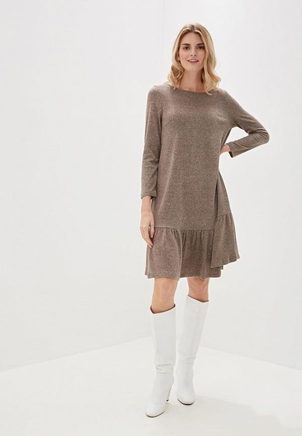 Фото 2 - Женское вязаное платье Argent бежевого цвета