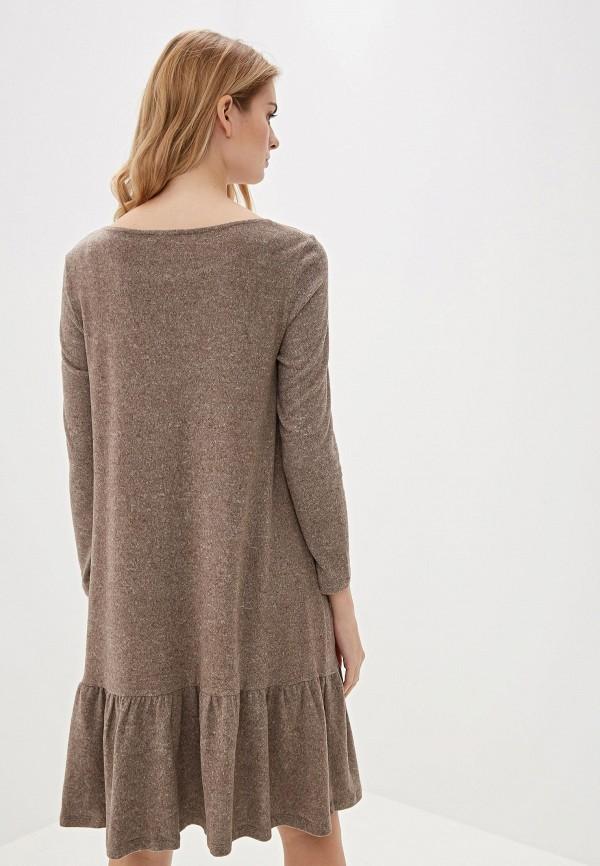 Фото 3 - Женское вязаное платье Argent бежевого цвета