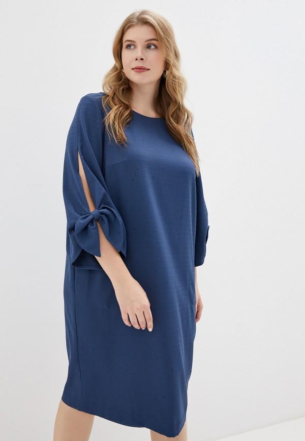 женское платье montebella style, синее