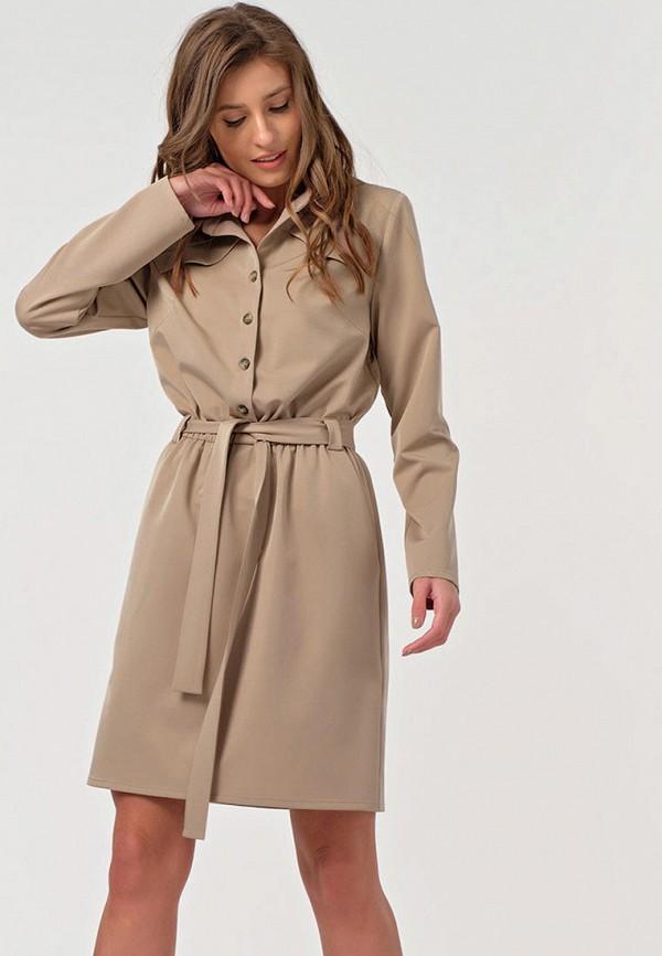 женское платье-рубашки fly, бежевое