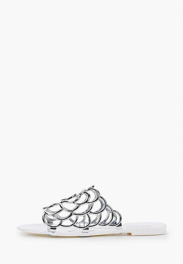 женское сабо glamforever, серебряное