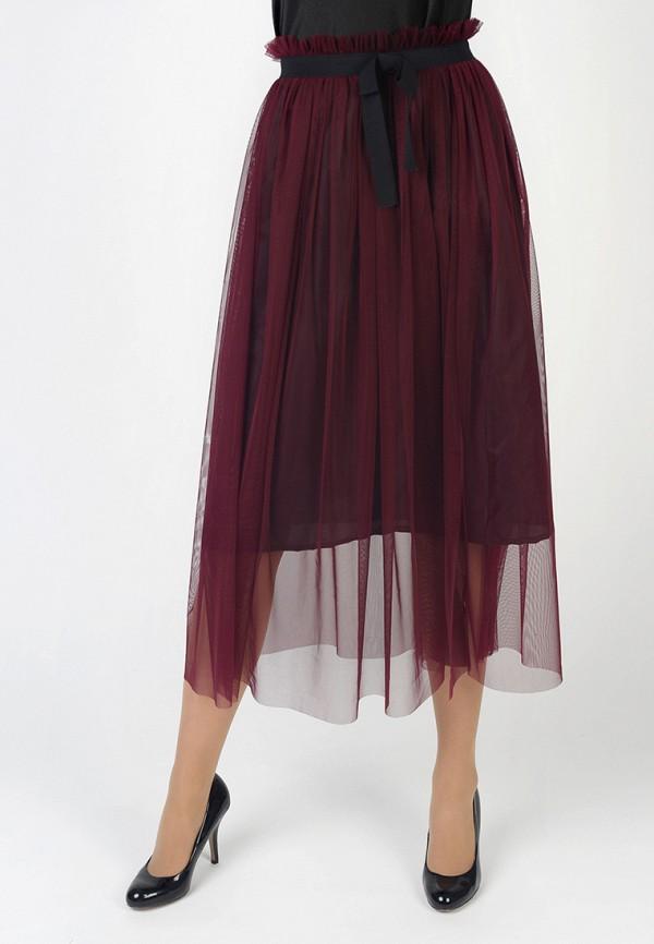 Фото - Женскую юбку Intrico бордового цвета