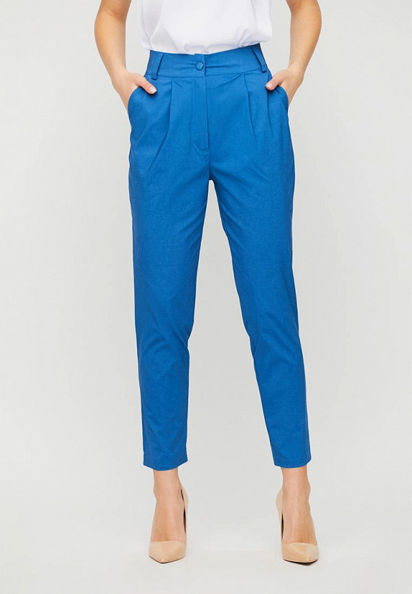 женские повседневные брюки karree, голубые