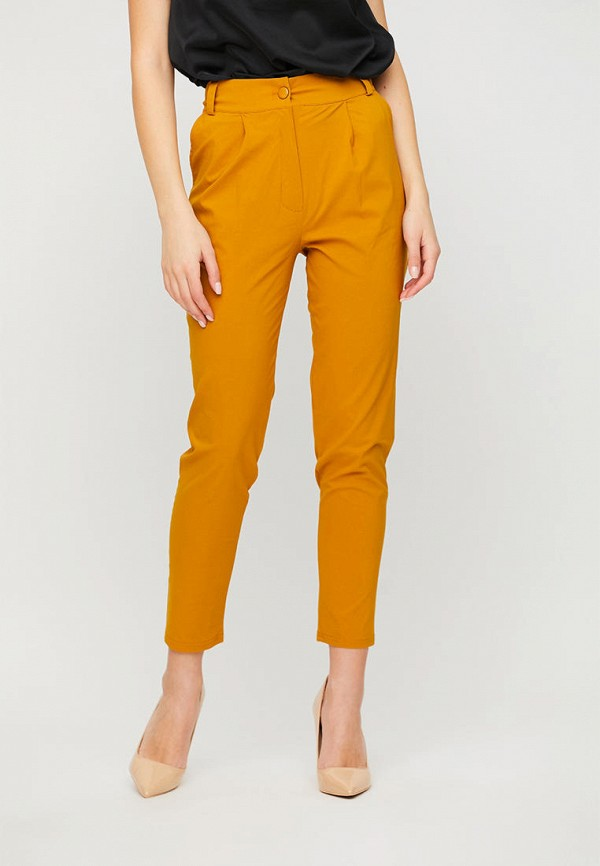 женские повседневные брюки karree, желтые