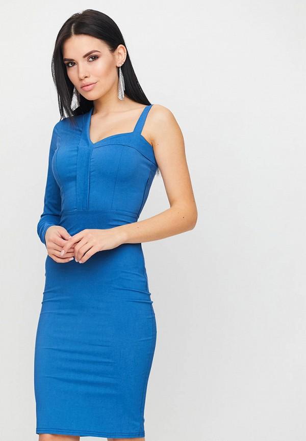 женское платье-футляр karree, синее
