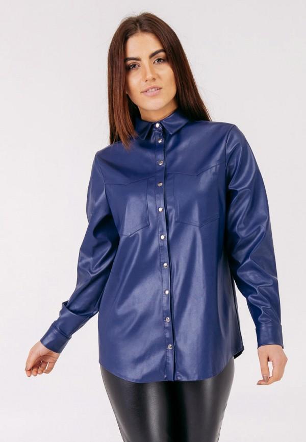 женская блузка bessa, синяя