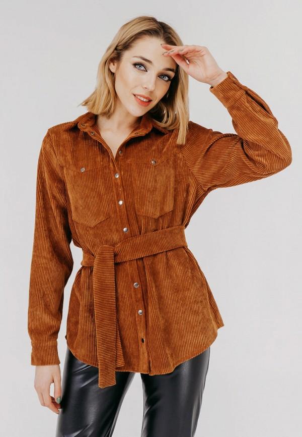 женская блузка bessa, коричневая