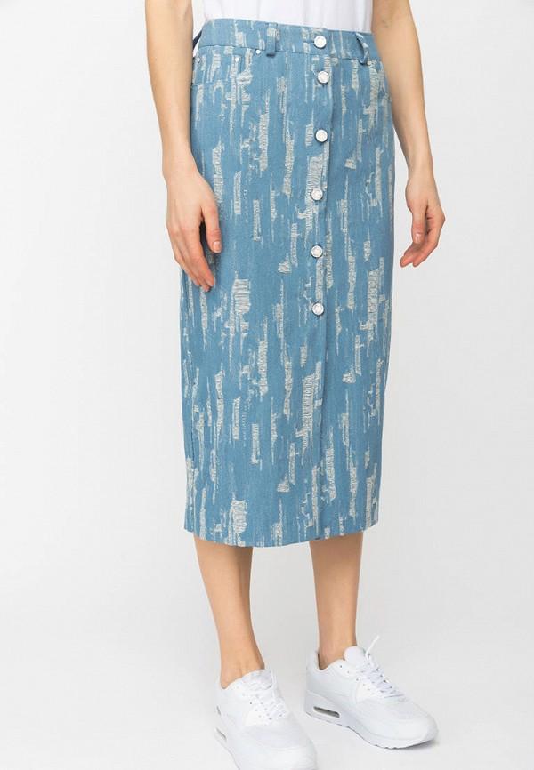 женская джинсовые юбка gloss, голубая