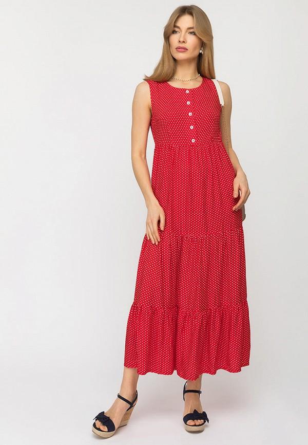 женское повседневные платье gloss, красное