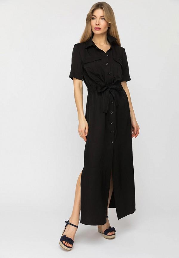 женское платье-рубашки gloss, черное