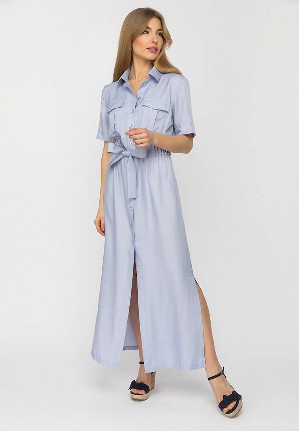 женское платье-рубашки gloss, голубое