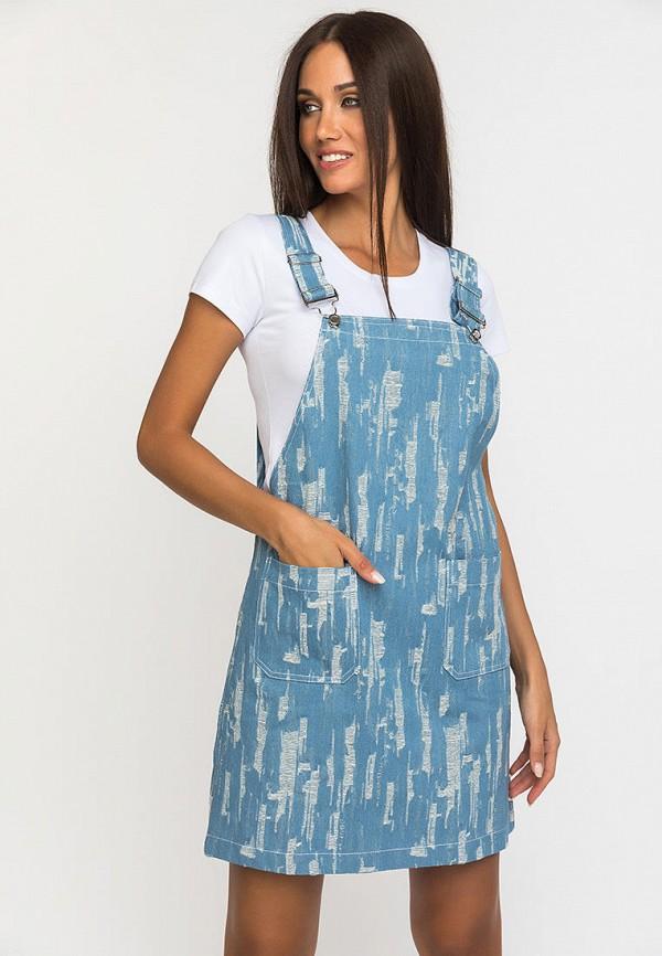 женский сарафан gloss, голубой