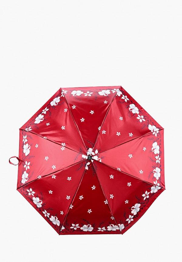 женский складные зонт zemsa, красный