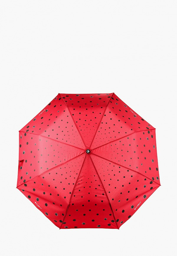 женский складные зонт flioraj, красный