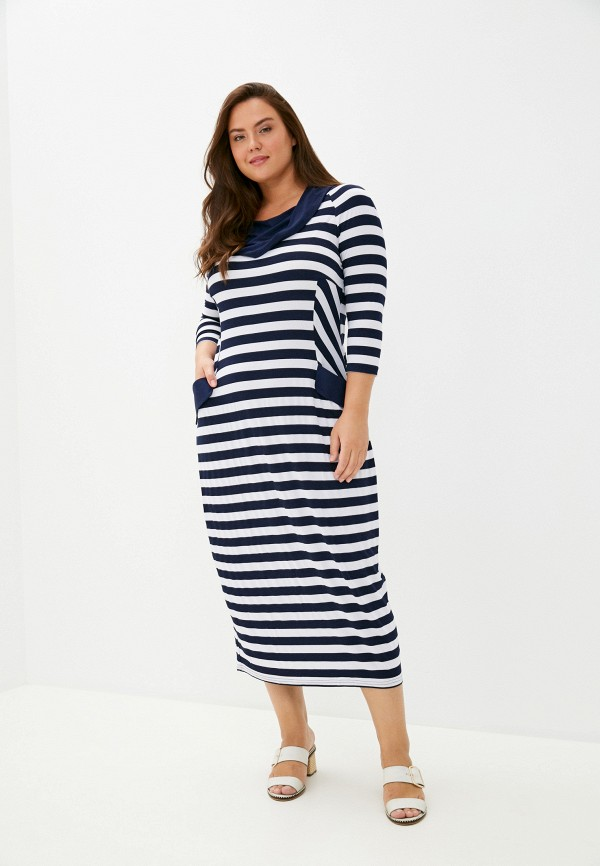 женское повседневные платье malena, синее