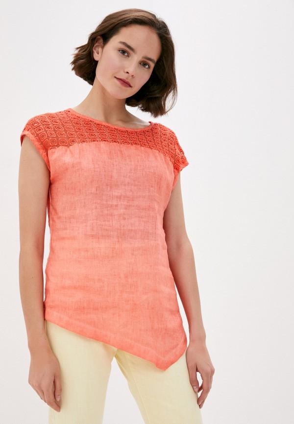 Блуза Agenda цвет коралловый