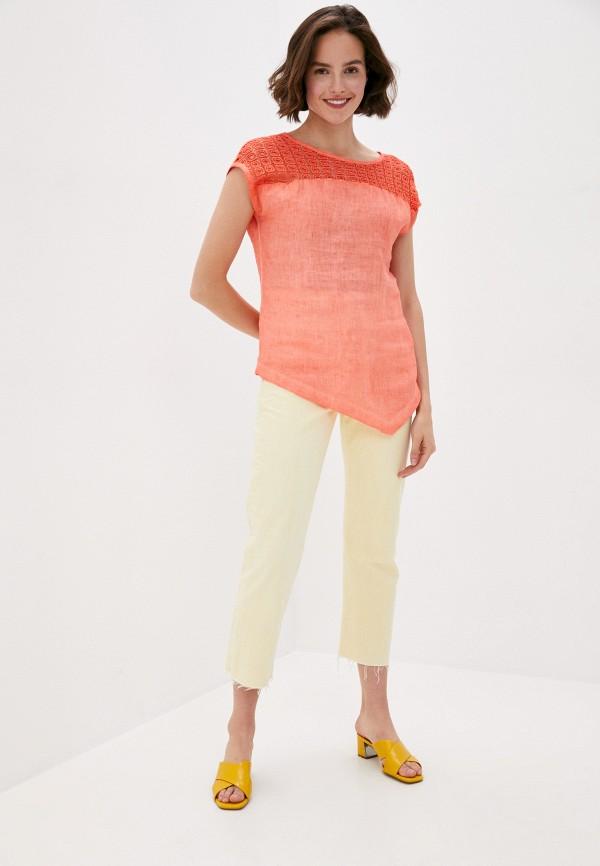 Блуза Agenda цвет коралловый  Фото 2