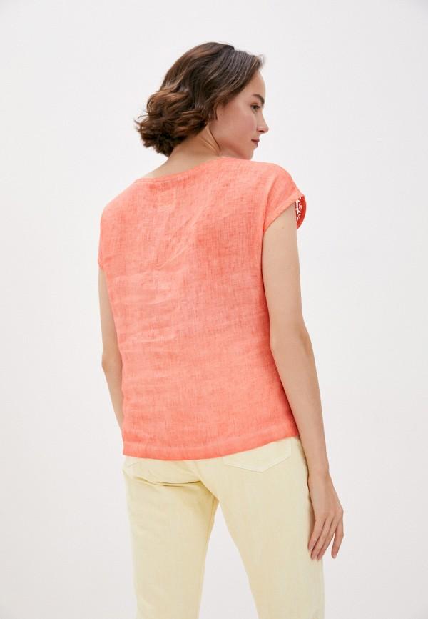 Блуза Agenda цвет коралловый  Фото 3