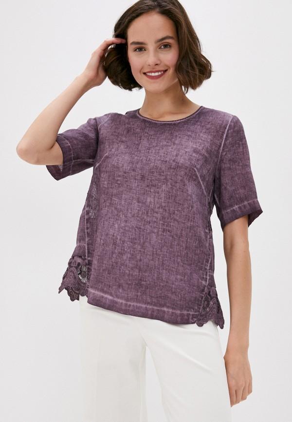 Блуза Agenda цвет фиолетовый