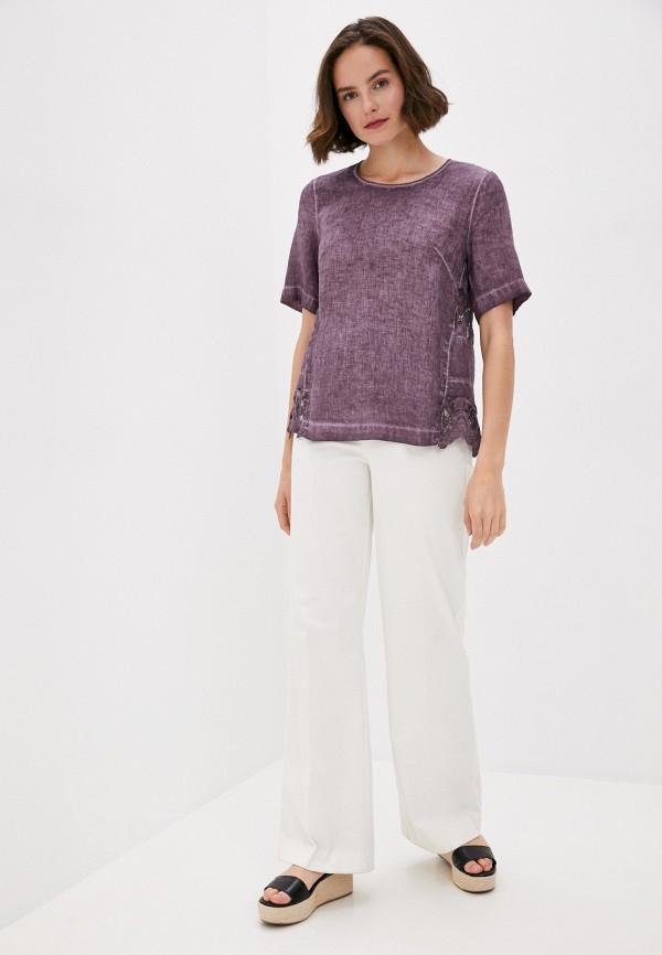 Блуза Agenda цвет фиолетовый  Фото 2