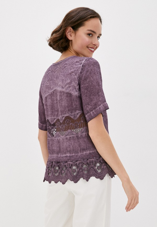 Блуза Agenda цвет фиолетовый  Фото 3