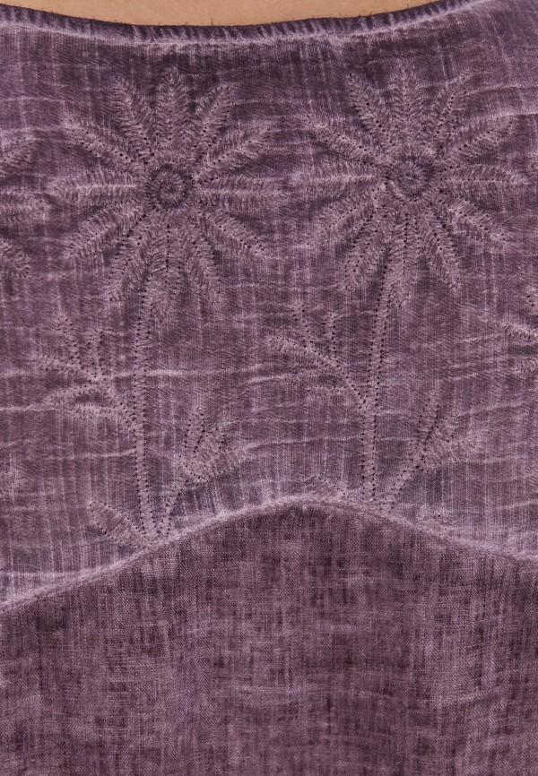Блуза Agenda цвет фиолетовый  Фото 4