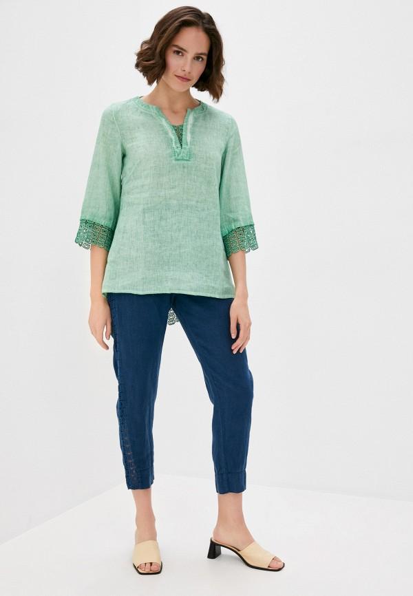 Блуза Agenda цвет зеленый  Фото 2