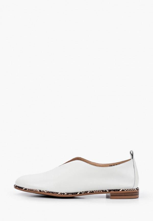 женские туфли с закрытым носом dino ricci, белые