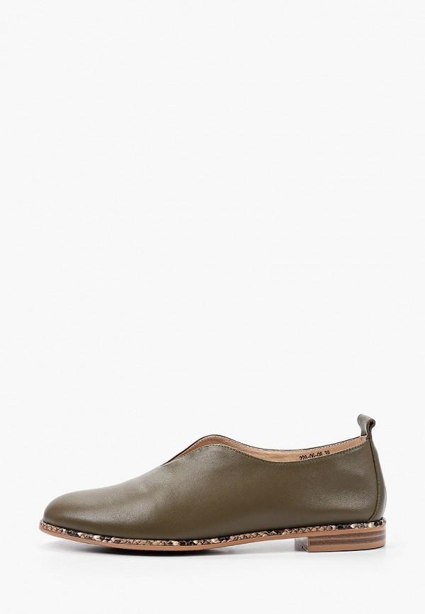 женские туфли с закрытым носом dino ricci, хаки
