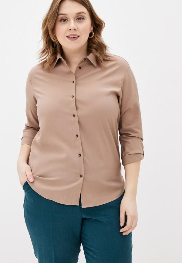 женская блузка с длинным рукавом zarina, бежевая