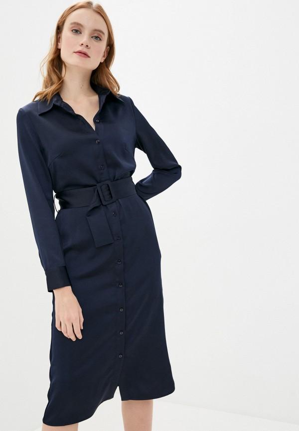 женское платье мини zarina, синее