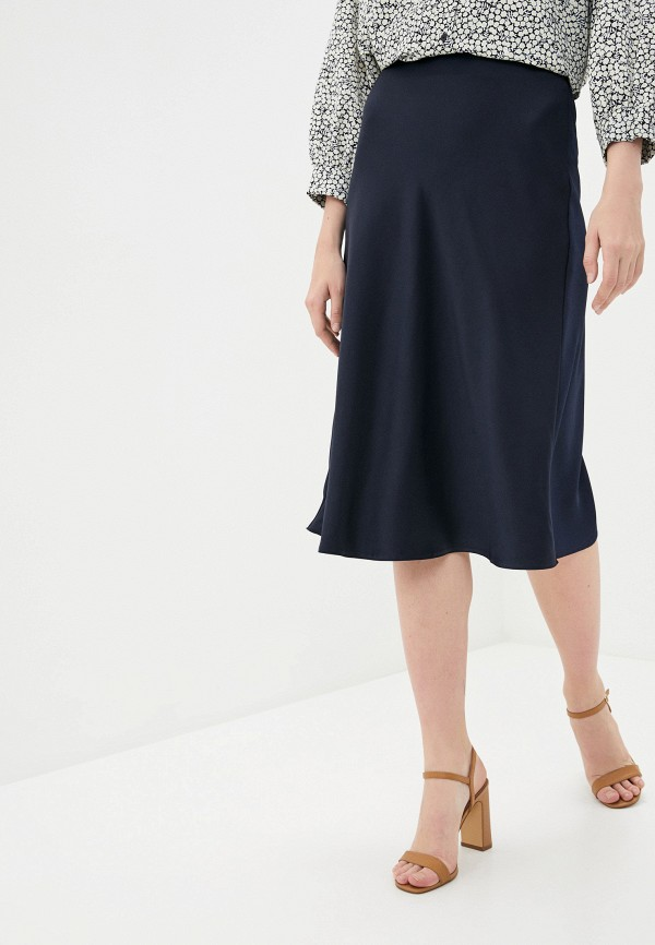 женская юбка-трапеции zarina, синяя