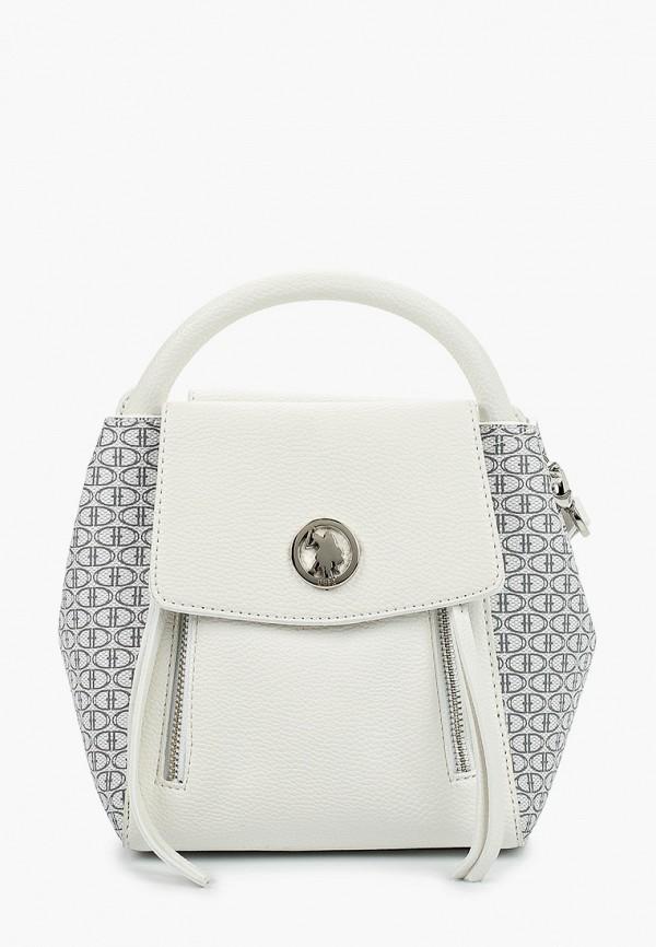 женская сумка с ручками u.s. polo assn, белая