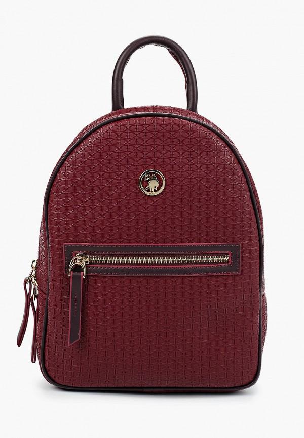 женский рюкзак u.s. polo assn, бордовый