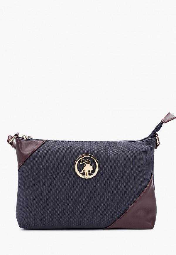 женская сумка через плечо u.s. polo assn, синяя