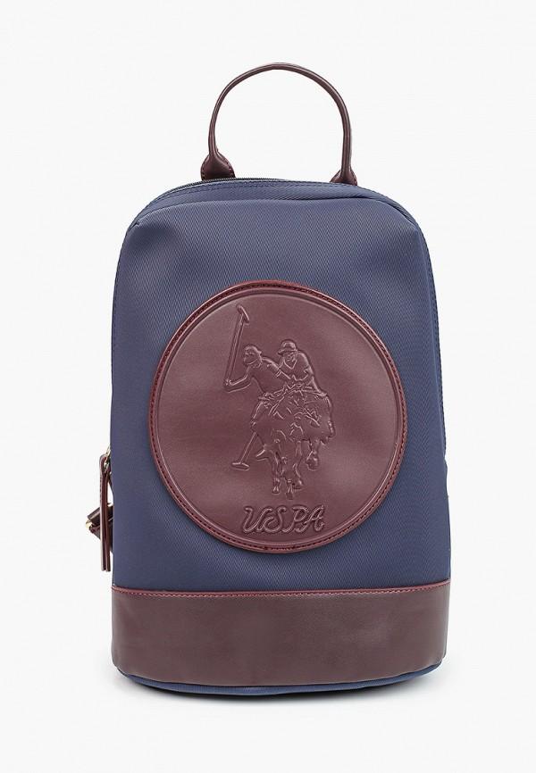 женский рюкзак u.s. polo assn, синий